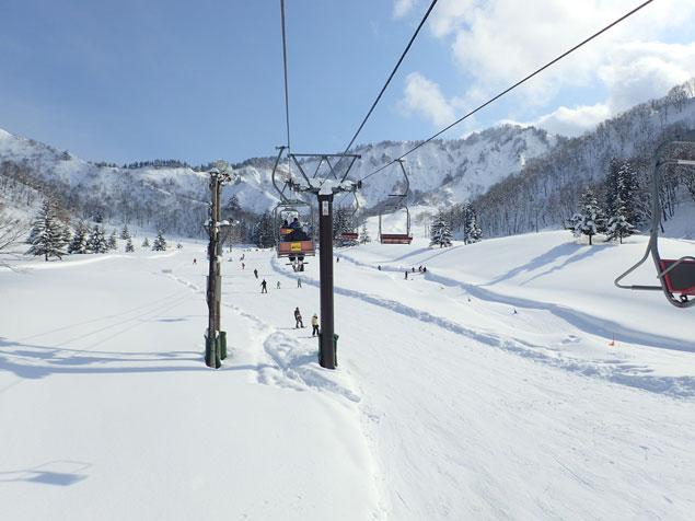 快晴の湯沢中里スキー場