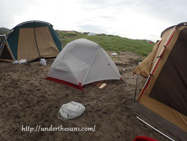 根本マリンキャンプ場でキャンプ