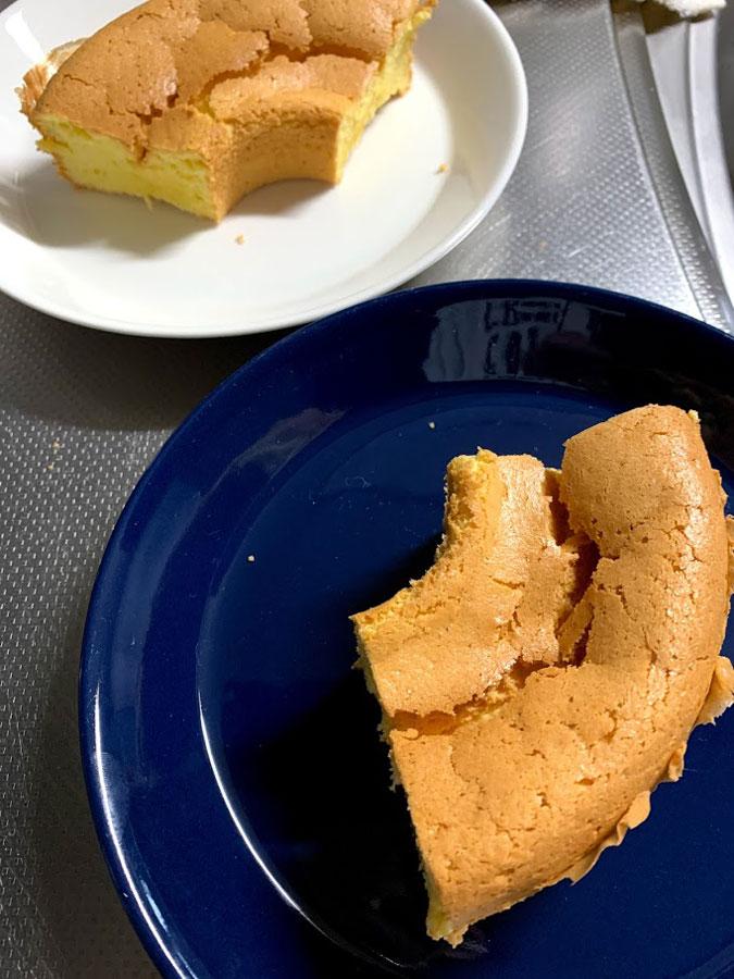 シフォンケーキ出来上がり