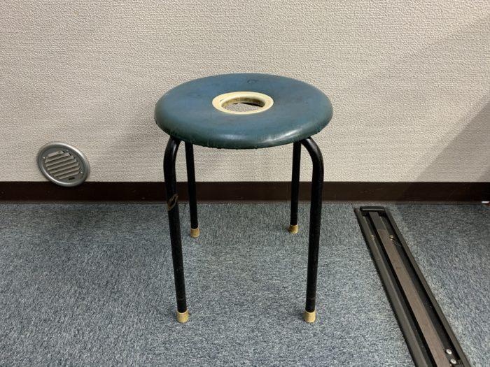 古い丸椅子