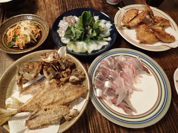 釣れた魚の料理